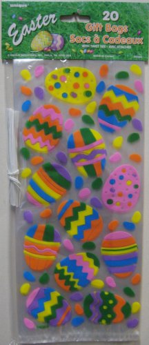 Easter Cello Bags Egg & Jelly Bean Design 20ct. with Ties
