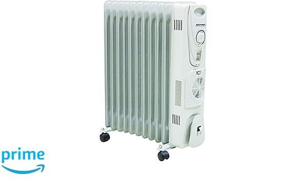 MPM MUG-14 Radiador De Aceite Portátil con Turbo-Fan Y Termostato, 2700 W, 0 Decibeles, Blanco: Amazon.es: Hogar