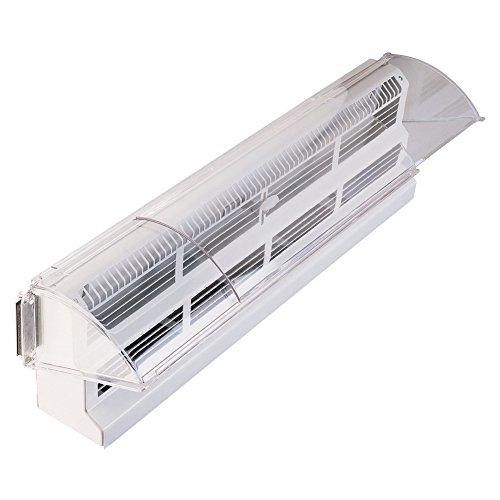 (Deflecto Adjustable Air Deflector Baseboard, 15