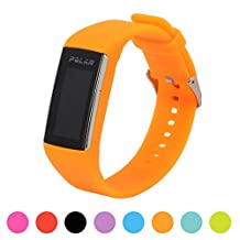 For Polar A360 Smart Watch Fitness Tracker Replacement Watchband - Feskio Soft Silicone Rubber Watch Band Wrist Strap Case for Polar A360 Smart Watch (Band Only,No Tracker)