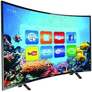 Nikai 43 Inch Full HD LED Smart Curved TV - Black, NTV4300CSLED