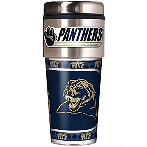 NCAA Pittsburgh Panthers Metallic Travel Tumbler,  16-Ounce (Steel Panthers Pittsburgh Stainless Pitt)
