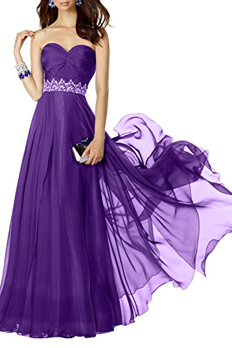 Brautjungfernkleider Abendkleider A Lang mia Fesltichkleider Kleider Lila La Traegerlos Jugendweihe Anmutig Chiffon Linie Brau YPnUWB