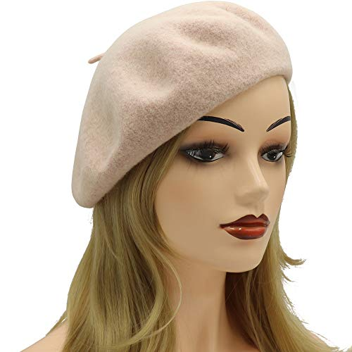 Umeepar Wool French Beret Hat for Women, Apricot ()