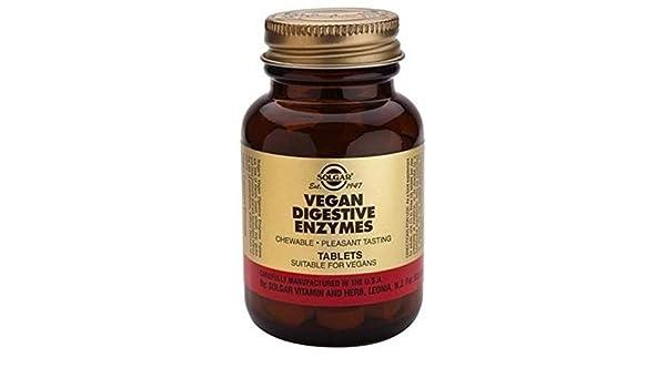 Vegan Enzimas Digestivas 50 comprimidos masticables de Solgar ...