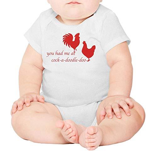 (Artisfive Rooster & Hen Cock-A-Doodle-Doo Unisex Baby Onesies Infant Bodysuit)