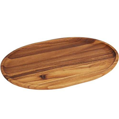 Woodard & Charles 18-Inch Acacia Oval Tray, X-Large ()
