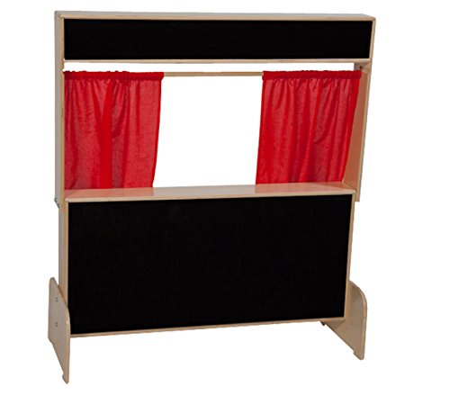 "Wood Designs WD21652 Deluxe Puppet Theater with Flannel Board, 48 x 47 x 6"" (H x W x D)"