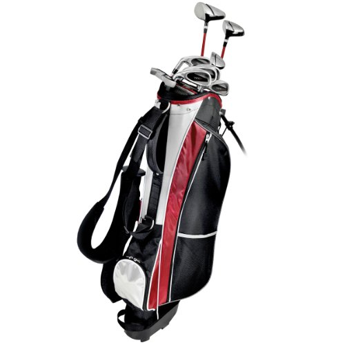KNIGHT Men s Tec Golf Club Complete Set Regular Flex, Graphite Hybrids with Steel Irons Driver, Fairway Wood, Hybrid, 6-PW, Putter, Stand Bag
