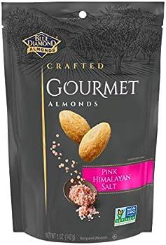 Blue Diamond 5 Ounces Gourmet Pink Himalayan Salt Almonds