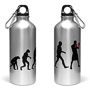 400ml Deportes botella de agua/cantimplora de aluminio de evolución de un Boxer