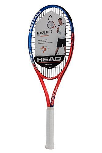 HEAD Ti. Radical Elite Tennis Racket - Pre-Strung Head Light Balance 27 Inch Racquet - 4 3/8 In Grip, Orange (Best 27 Inch Tennis Racket For Juniors)