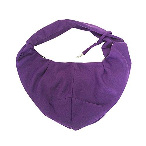 Rachel-Pet-Products-Reversible-Pet-Sling-Carrier-Single-Shoulder-Bag-for-SmallMedium-Dogs-Cats-Purple