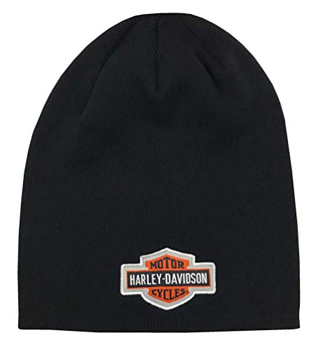 Harley-Davidson Little Boys' B&S Logo Slouchy Knit Beanie Hat, Black 7283843