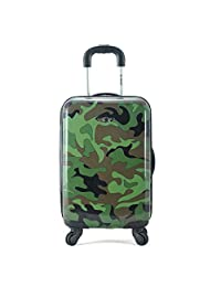 """ROCKLAND 20"""" Polycarbonate Carry On, Camo, One Size"""