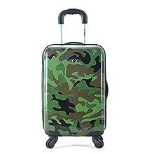 Rockland Safari Hardside Spinner Wheel Luggage, Camouflage