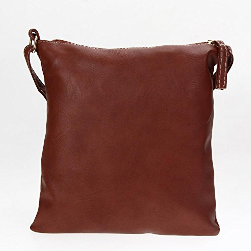 Crossbody Widewing PU houlder Light Tote HandBag Brown Fashion Women Bag Satchel q6wSf0q