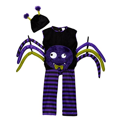[Kids Unisex Purple Spider Dress-Up Costume Set, Size 1/2] (Boy Spider Halloween Costume)