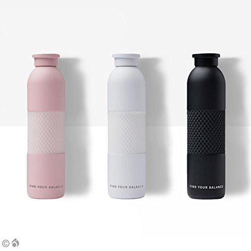 Lokai Metal Water Bottle Pink- Sleek, Sustainable Water Bottle, 19 oz., Stainless Steel with a textured grip