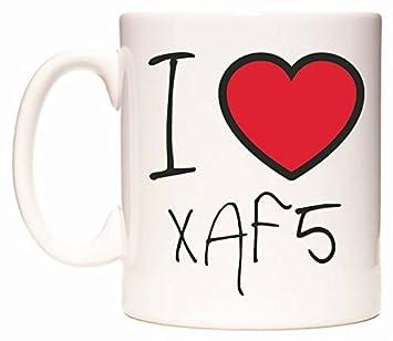 Amazon de: I Love XAF5 Becher von WeDoMugs