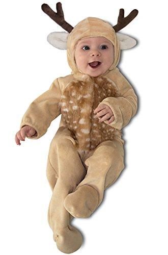 Infant Fawn Costume (Princess Paradise Baby Boys' Lil Buck, Tan/White/Brown, 0/3M)