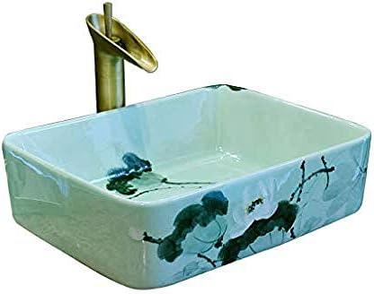 バスルーム長方形ロータスシンプルな洗面シンクセラミックホテルアンチスプラッシュ洗面バスルームのシンク
