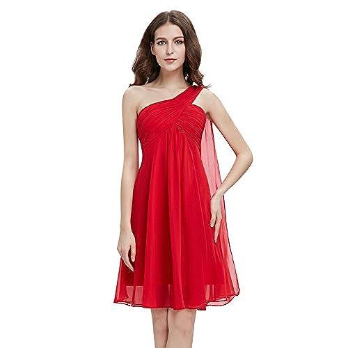Short One Shoulder Red Dress