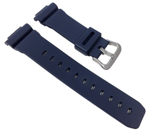 Price comparison product image Casio watch strap watchband Resin Band dark Blue for G-5600NV G-5600 GW-M5610NV GW-M5610