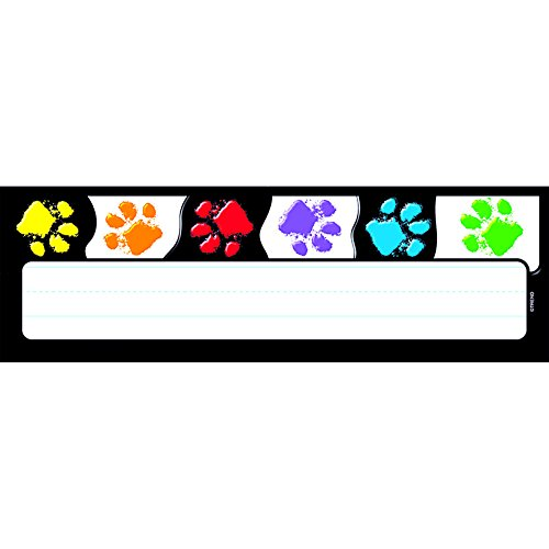 Trend Enterprises Paw Prints Desk Toppers Name Plates (T-69070)