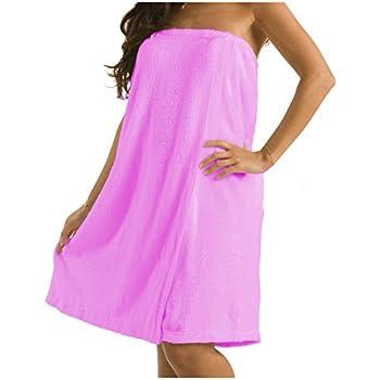 robesale Terry Spa Women Bath Wrap Towel, Pink, XXLarge