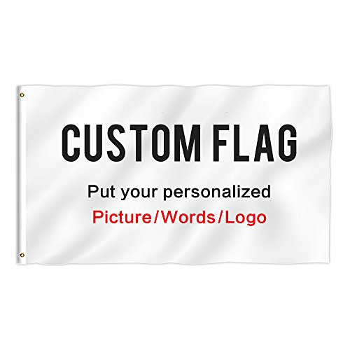KafePross Custom Outdoor Flag 3X5 FT Use Your Personalized Picture Text or Logo to Customized Gifts Print One Side]()