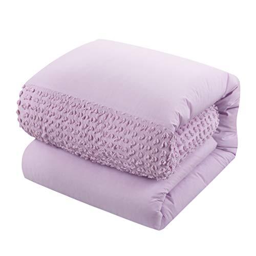 - American Kids Tufted Stripe Comforter Set, Twin, Purple