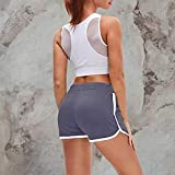 Women Mid Waist Drawstring Athletic Shorts Fitness