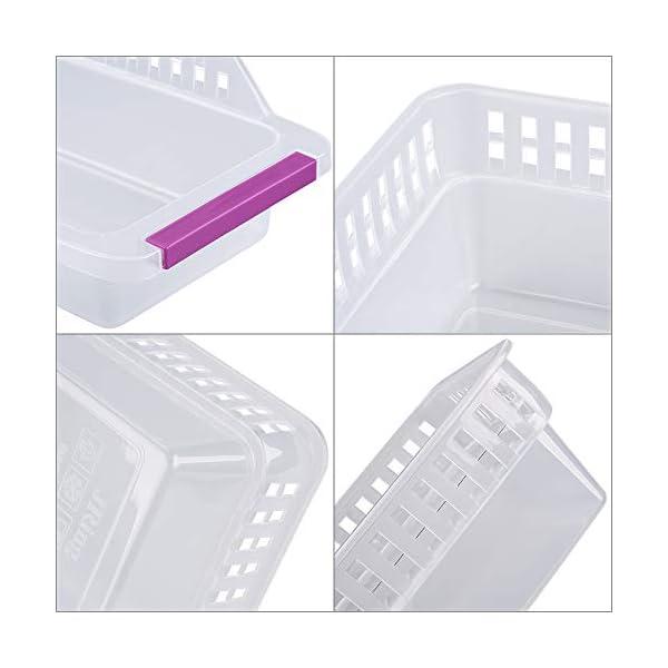 41lfnFoQLvL Kühlschrank Organizer, JRing Kühlschrankbox 6 Stück Kühlschrank Container Aufbewahrungsbox Schubladen Pantry Lagerung…