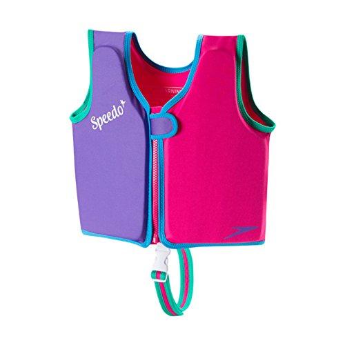 Speedo Kids UPF 50+ Begin to Swim Classic Swim Vest, Berry/Grape, Medium (Swim Trainer)