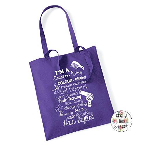 De Púrpura Regalo De Peluquería Del Regalo De Navidad De Cotización Recuerdo Bolso Algodón Asas Bolsa Navidad Del 77vwHAZq