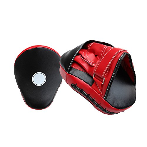 Curved Boxing Gloves, Alotm Essential Boxing Target Focus Mitts Hook & Jab Punching Pads MMA Thai Training Strike Kick Shield, PU Leather, for Kickboxing, Muay Thai, Sparring