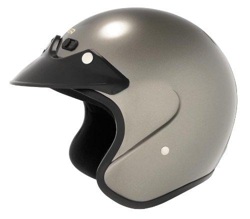 Cyber Face Helmet - Cyber Helmets U-6 Open Face Solid Helmet , Size: Md, Color: Deep Silver 641272