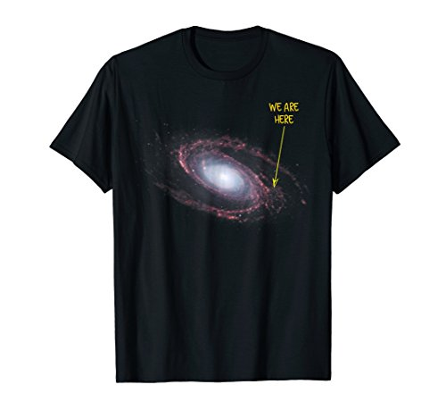 We You Are Here Solar System Space Milky Way Galaxy Shirt