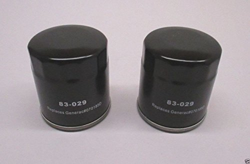 (2 Pack Oregon 83-029 Oil Filter for Generac 070185D 27 Micron)