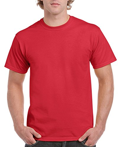 Red Apparel Adult Tee - Gildan Men's Ultra Cotton Tee, Red, Small