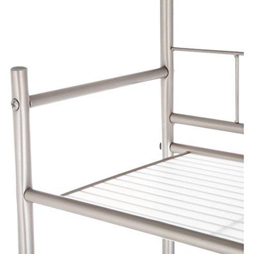 mainstay 3 shelf bathroom space saver oil rubbed bronze finish satin nickel get affordable. Black Bedroom Furniture Sets. Home Design Ideas