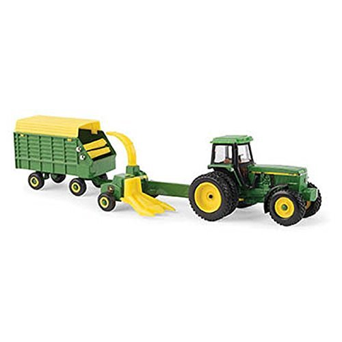 John Deere 1/64 Scale 4960 Tractor with Forage Harvester & Wagon - LP67313