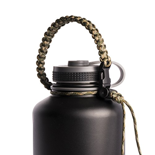 Paracord Survival Kanteen Stainless Bottles product image
