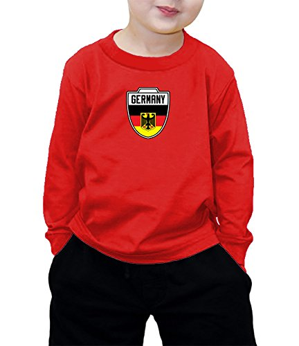 German Boy Clothes (Toddler Little Boy Germany German - Soccer Long Sleeve T-shirt ( 5/6, RED))