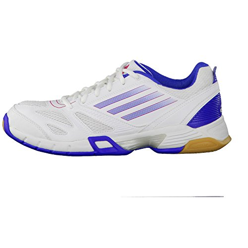 adidas Damen team 0 feather Hallenschuh blau weiss W Handball rrwdUn8q