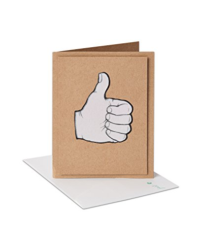 American Greetings Thumbs-Up Congratulations Greeting Card with Flocking and Kraft Paper