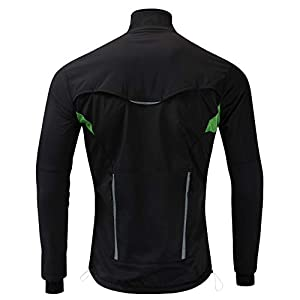 JOGVELO Cycling Jacket, Winter Waterproof Cycling Mens Thermal Windproof Ultra-light Reflective for Men/Women