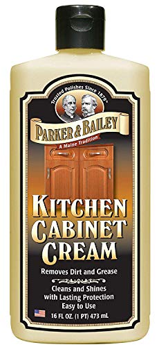 Parker and Bailey Kitchen Cabinet Cream - Wood Cabinet Cleaner and Restorer- Cabinet Grease Remover 16 Ounce (Best Degreaser For Kitchen Cabinets)