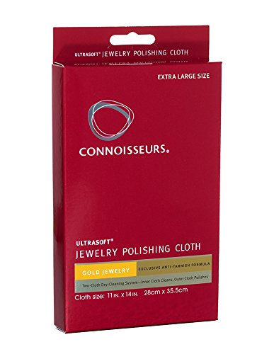 Connoisseurs Gold Polishing Cloth 11 x 14 inches